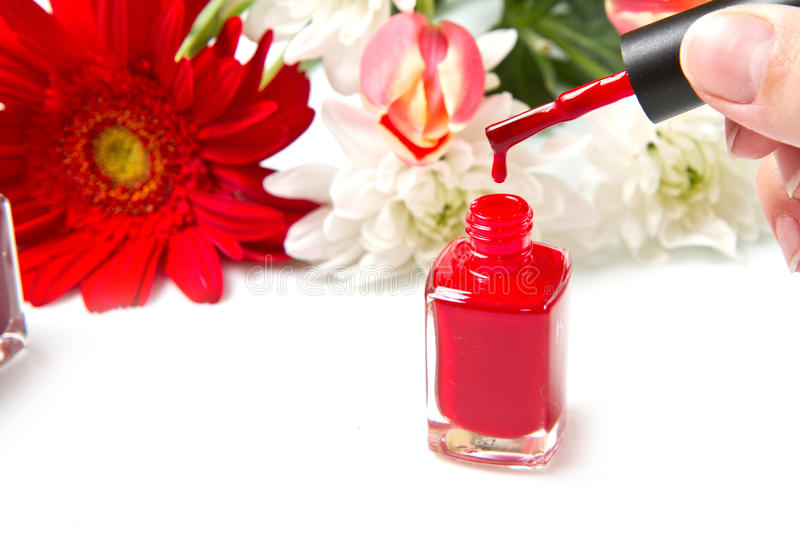 Download Red nail polish stock image. Image of concept, flower - 24478991