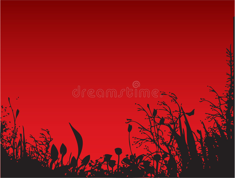 Red Nature royalty free illustration