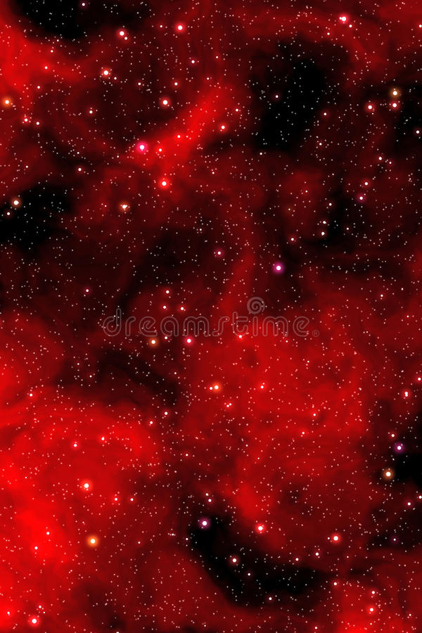 Free Red Nebula Stars Stock Image - 14426741