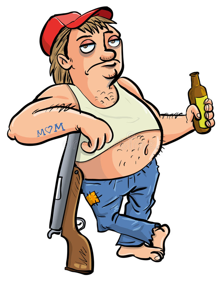 Download Red Neck Holding A Beer Cartoon Stock Illustration - Image: 30212917
