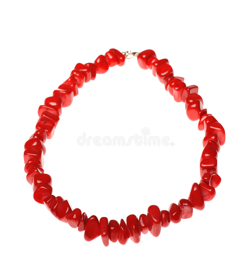 Red Neclklace Stock Image
