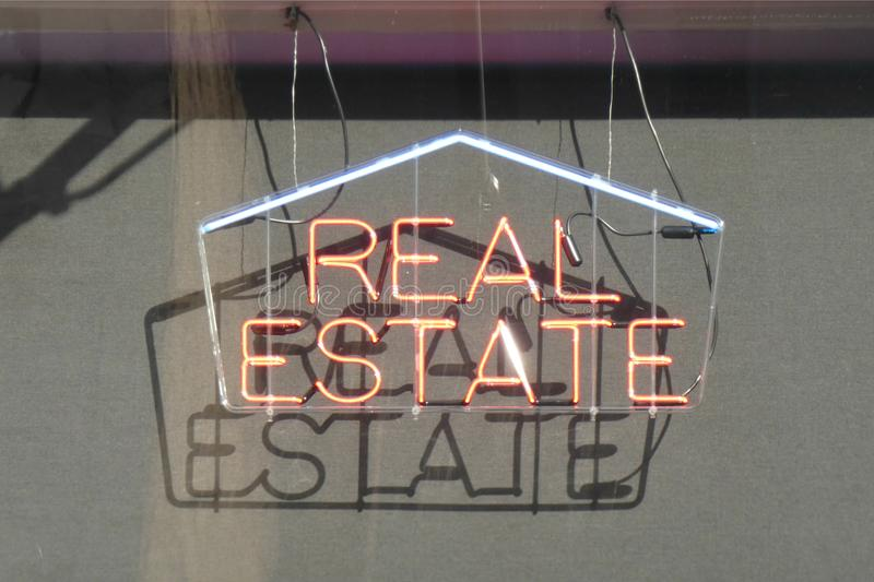 Real Estate Sign stock images