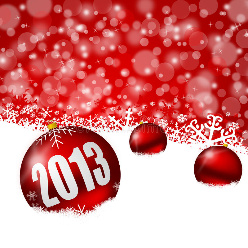 Download Red new years background stock illustration. Image of holiday - 27128627