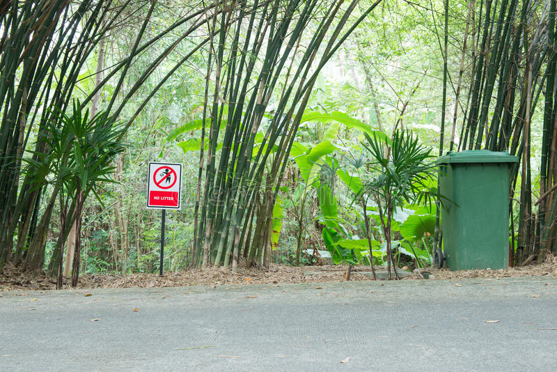 Red no littering sign stock photos