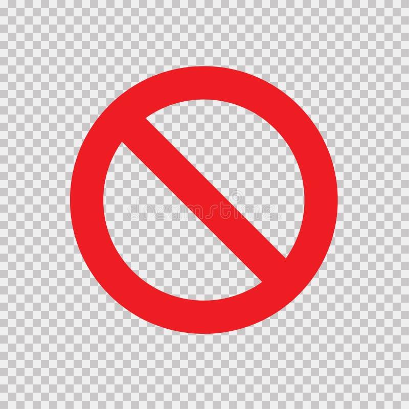 Forbidden Sign Transparent Background Stock Vector