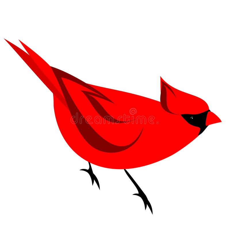 red northern cardinal bird clipart stock vector illustration of rh dreamstime com cardinal points clipart cardinal clipart mascot