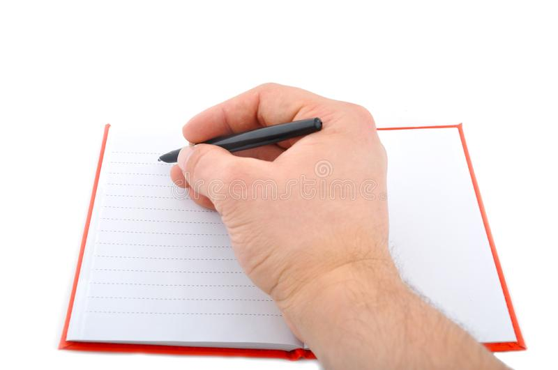 Download Red note with hand stock image. Image of desk, note, advisor - 13754429