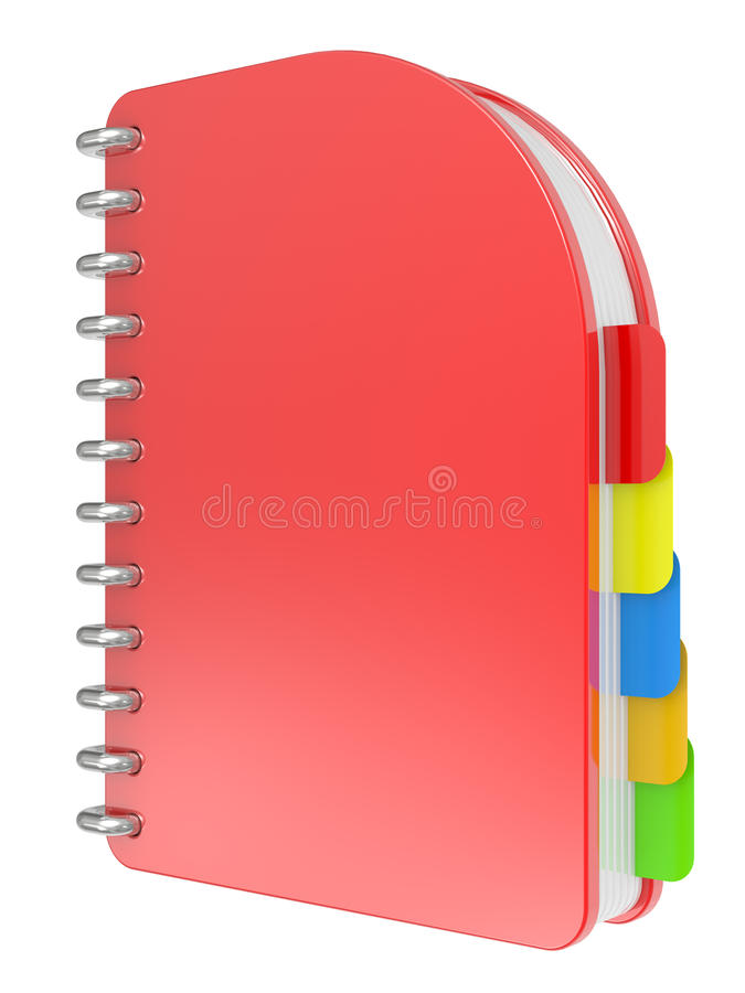 Download Red notebook stock illustration. Image of background - 17246081
