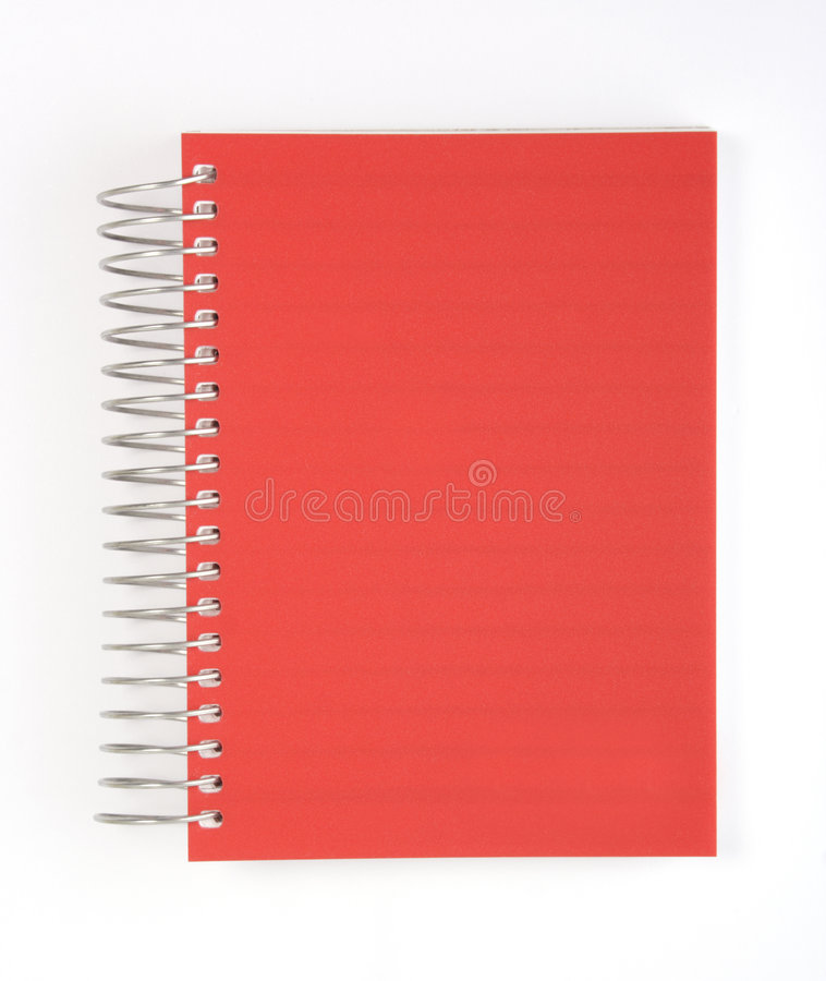 Red notebook Isolated royalty free stock image