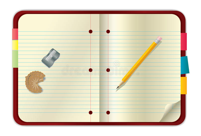 Red Notebook And Pencil Royalty Free Stock Photos