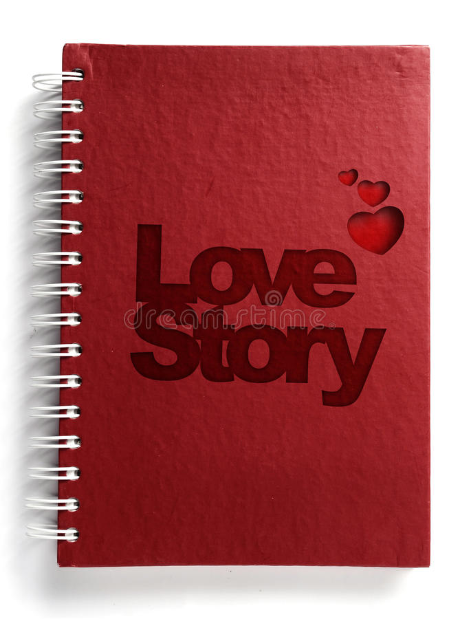 Download Red Notebook With Text Love Story Stock Image - Image: 19454031