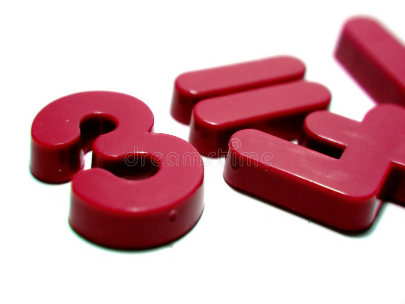 Red Numbers royalty free stock photo