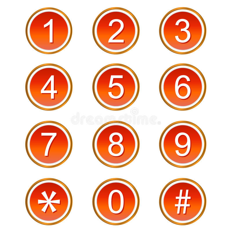 Download Red numbers icons stock vector. Image of four, digit - 25551252