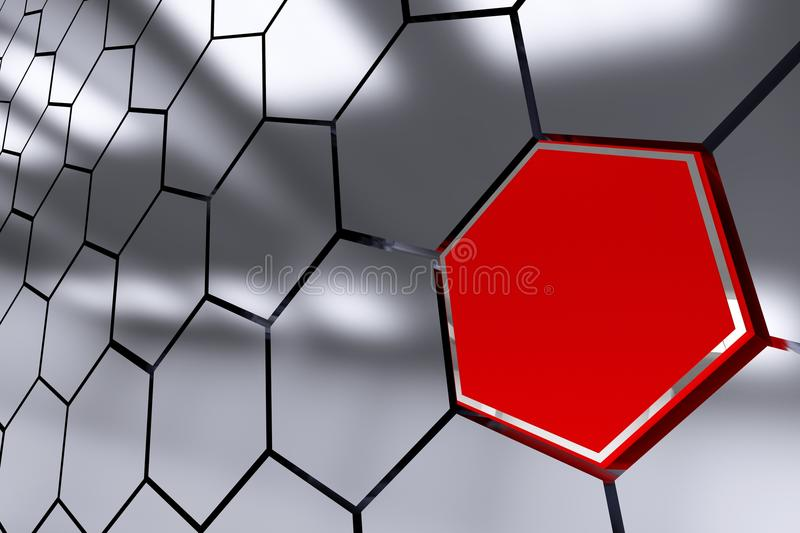The Red Octagon Spot royalty free illustration
