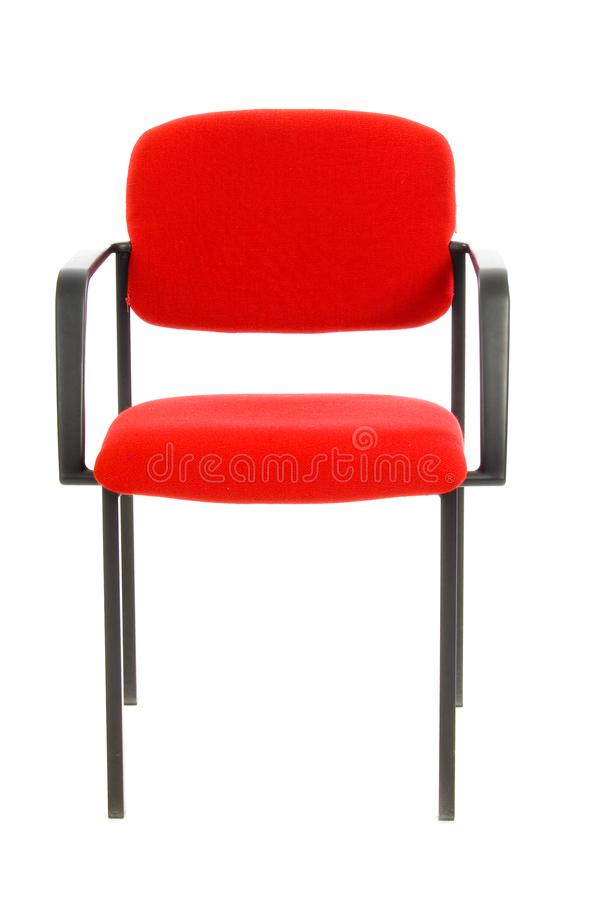 Download Red Office Chair Isolated On White Stock Photo - Image of background, fabric: 9236120