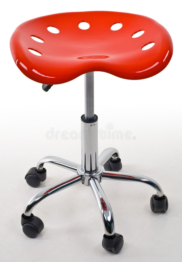 Red office stool stock photos