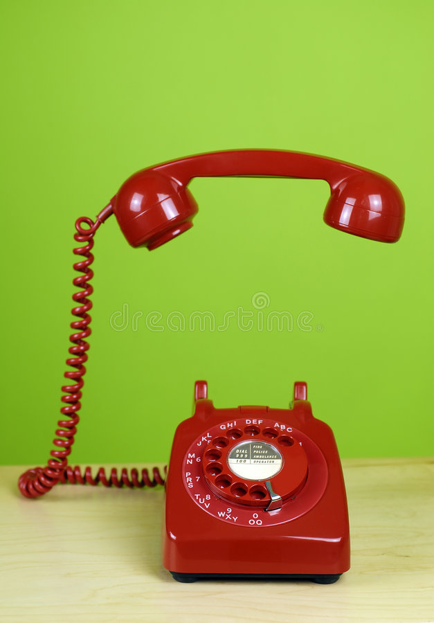Red Office Telephone royalty free stock photos