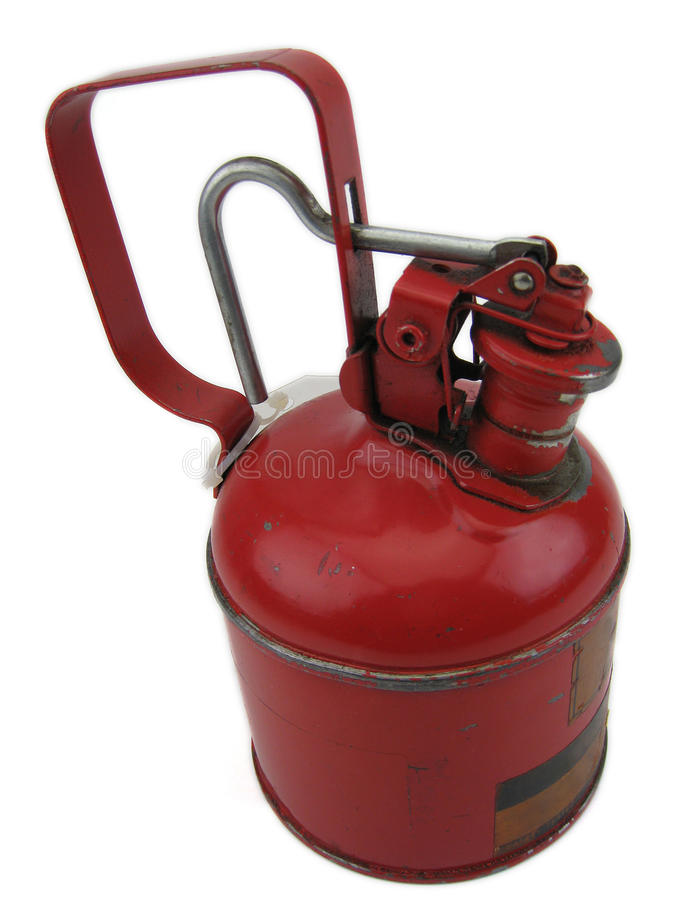 Red oil can stock photo