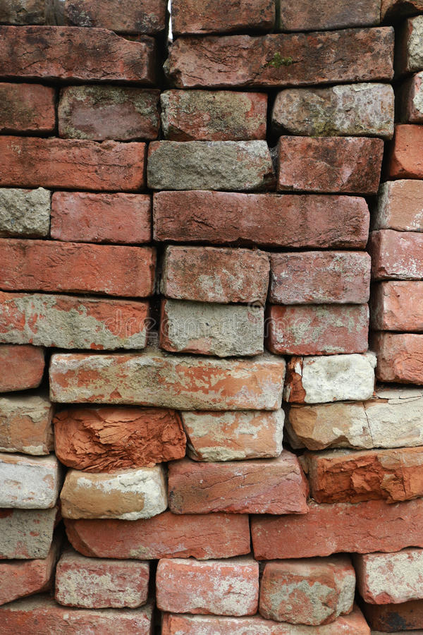 Red old brick wall for font royalty free stock photography