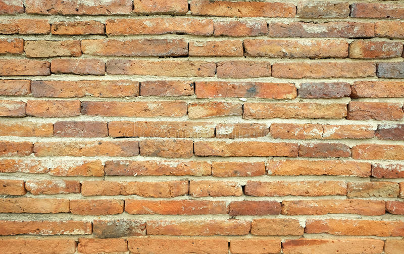 Red old brick wall stock photography