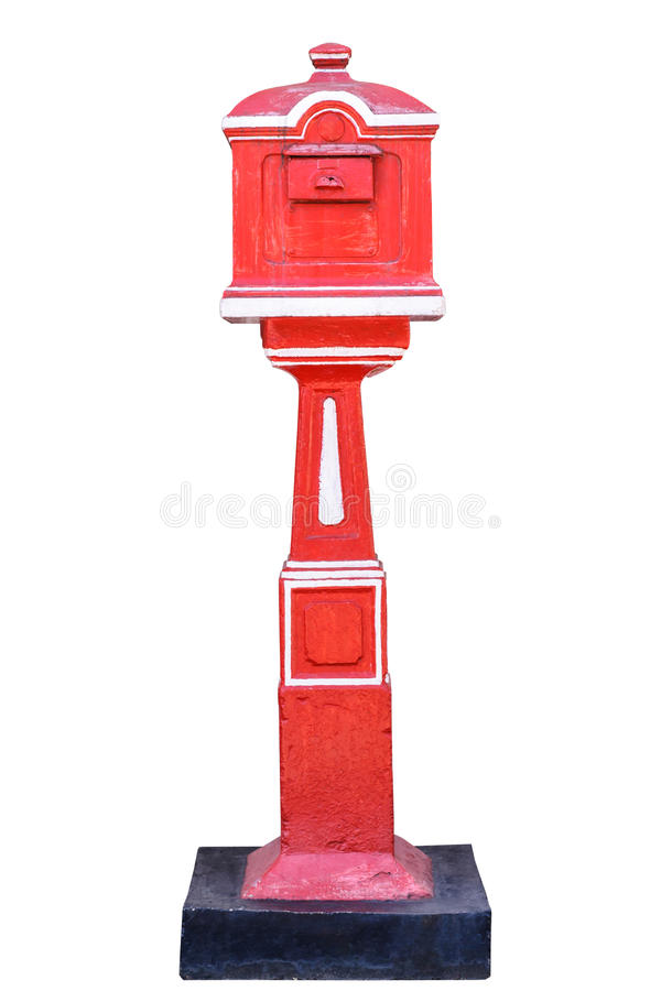 Download Red old-fashioned mailbox stock image. Image of clipping - 34997395