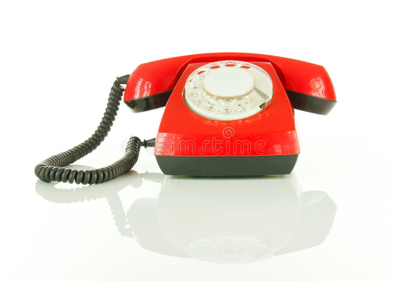 Download Red Old Fashioned Telephone Stock Image - Image of handset, nobody: 22741121