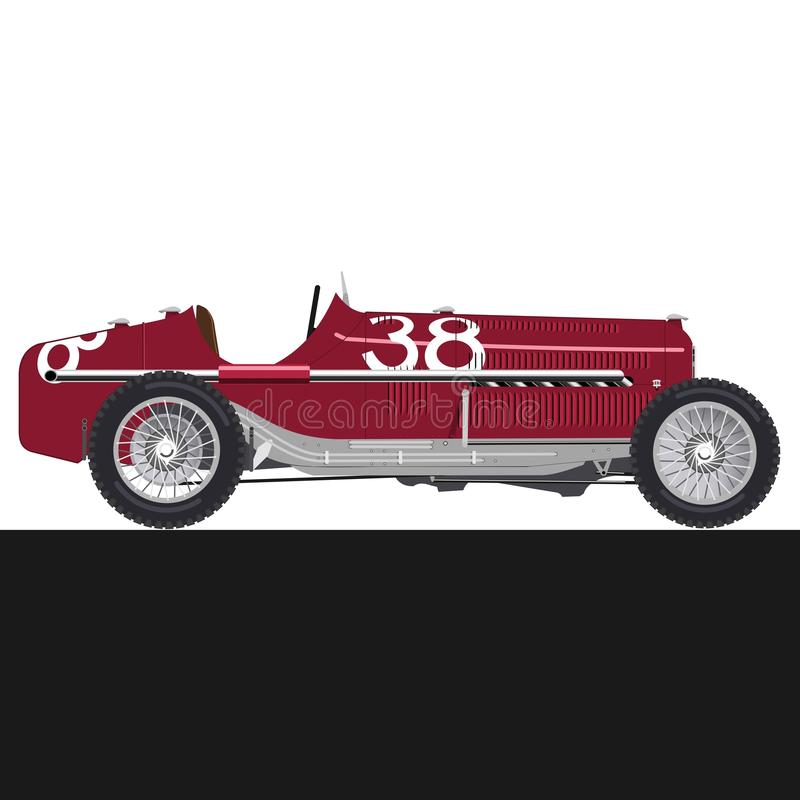 Red old racing car stock images