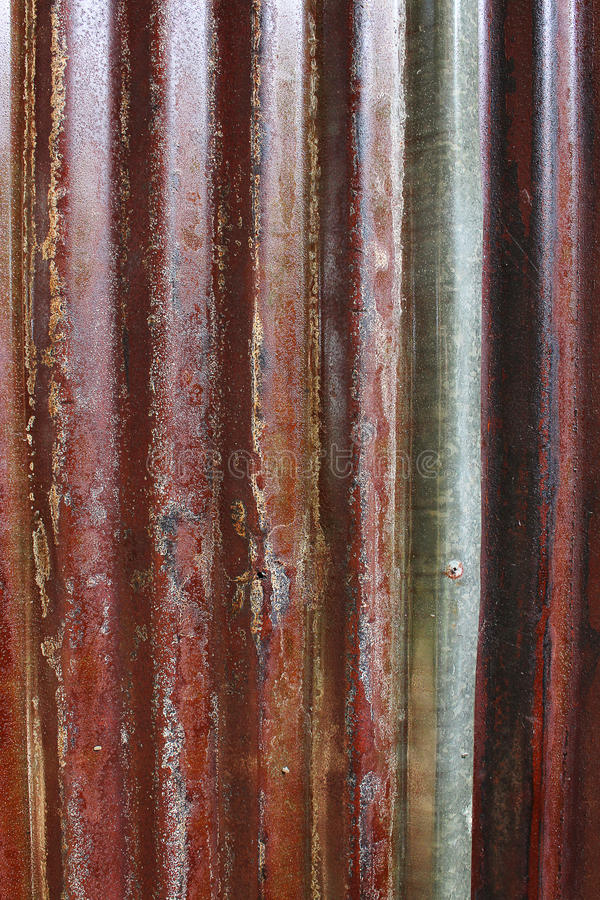 Red old rot erode zinc background texture stock photo