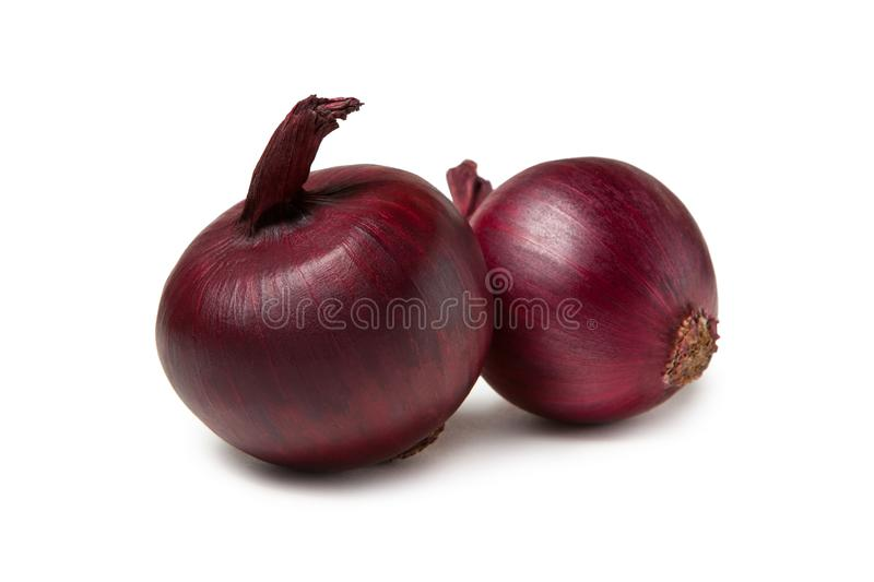 Red onion bulb isolated on white background royalty free stock photo