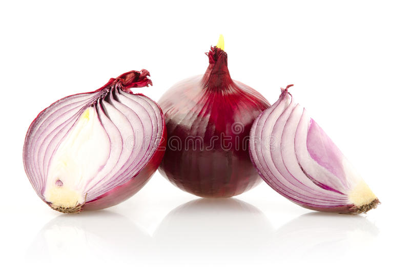 Download Red Onion With Half On White Background Stock Photo - Image of ingredient, plant: 39508126