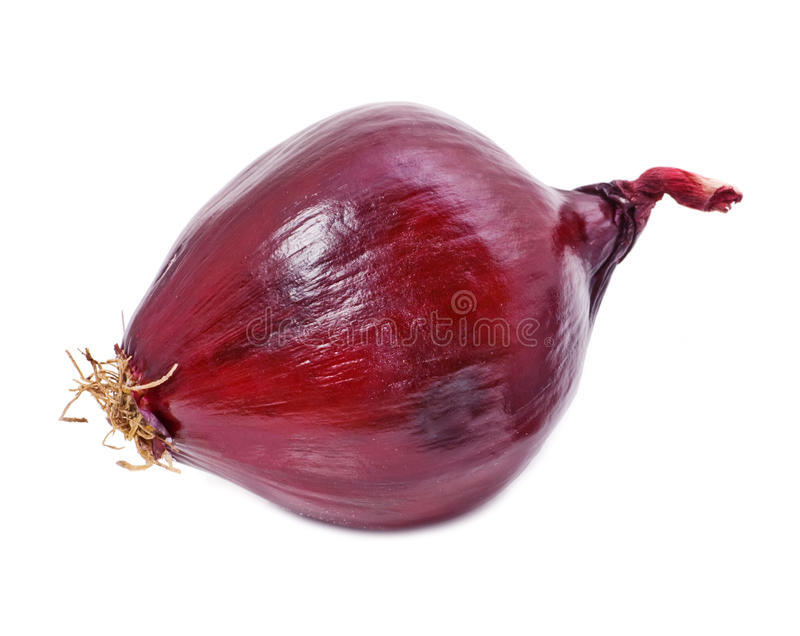 Red onion. Vegetable isolated on white stock photos