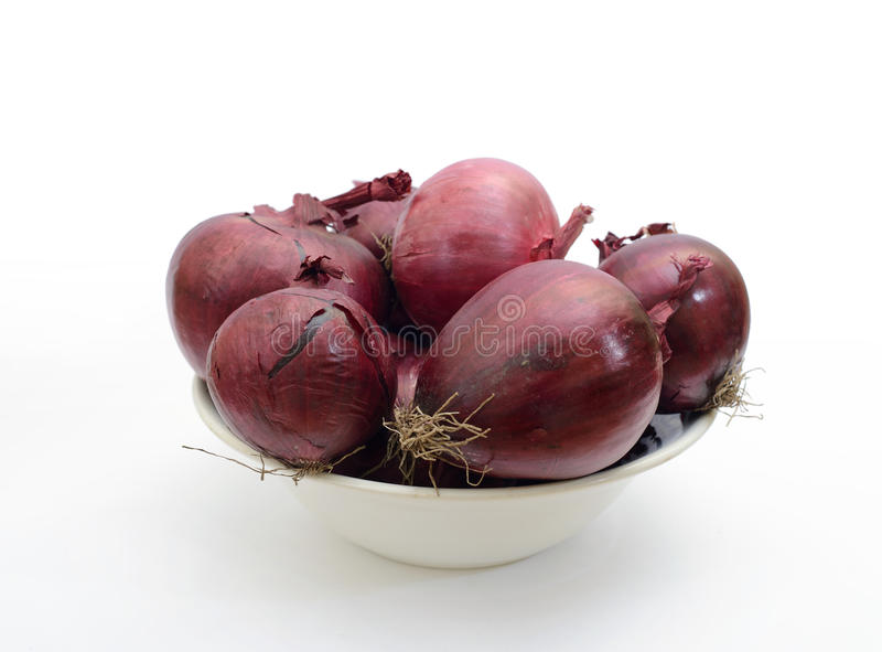 Red Onion On White Royalty Free Stock Photography