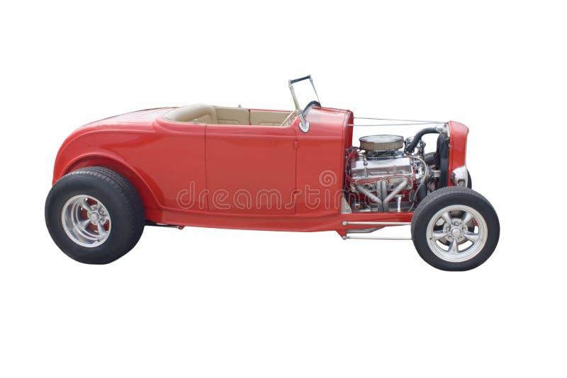 Red open wheel hotrod stock image