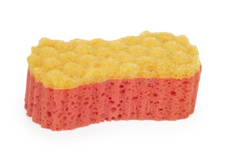 Red-orange bath sponge royalty free stock photos