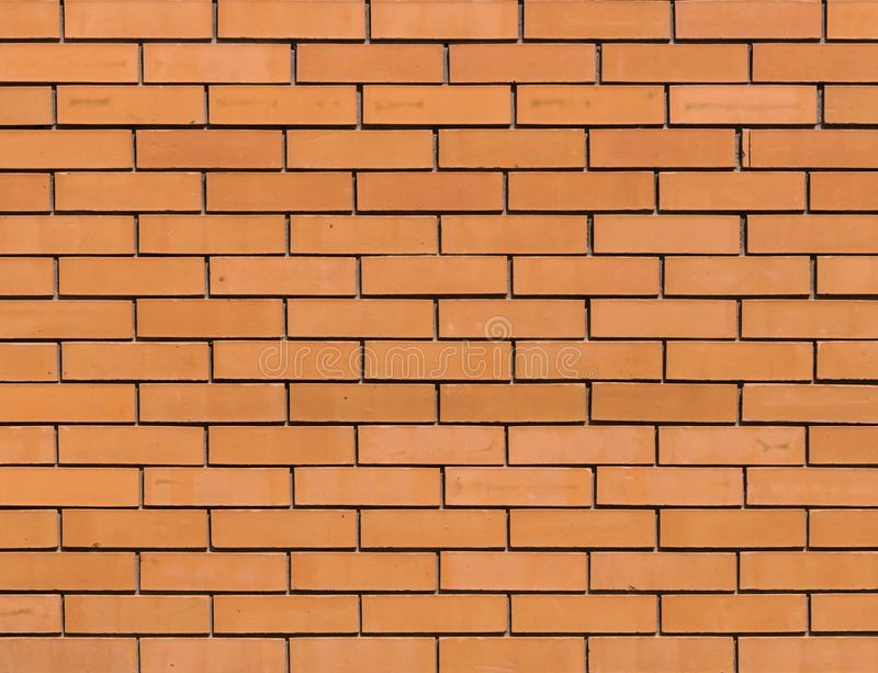 Red orange brick wall for background texture royalty free stock photography