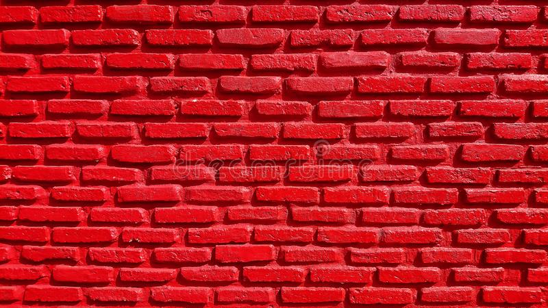 RED orange brick wall concrete background  old vintage  horizontal architecture dark wallpaper texture construction building for stock photography