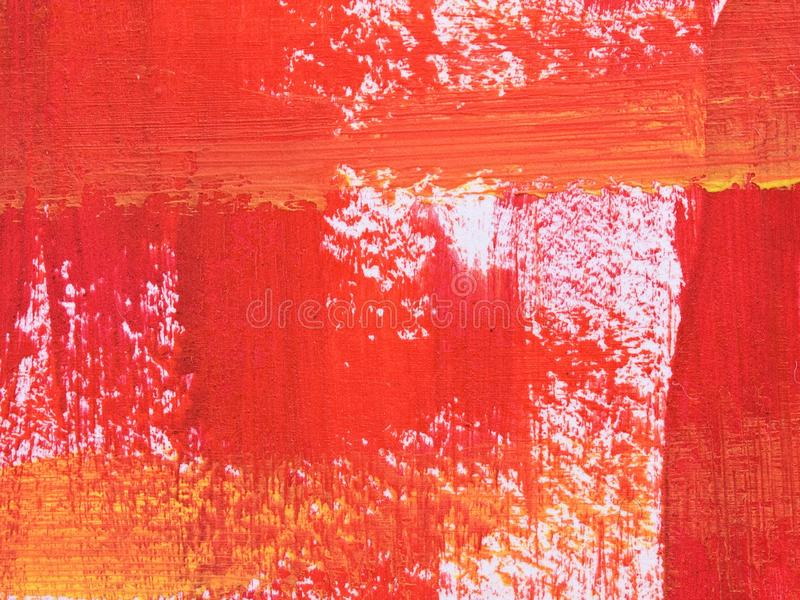 Red And Orange Brush Stroke Texture. Royalty Free Stock Image