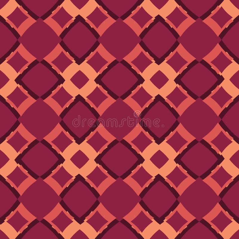 Red and orange bstract pattern background. Design royalty free illustration