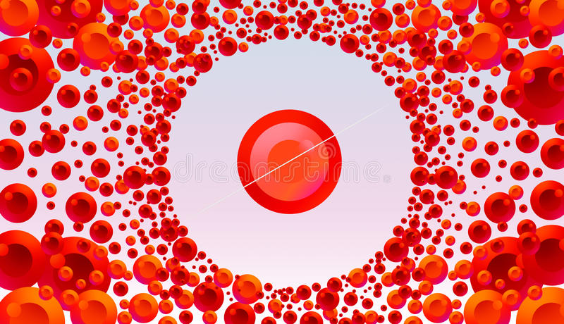 Download Red And Orange Color Burst In Light Background Stock Illustration - Illustration of blend, force: 36132624