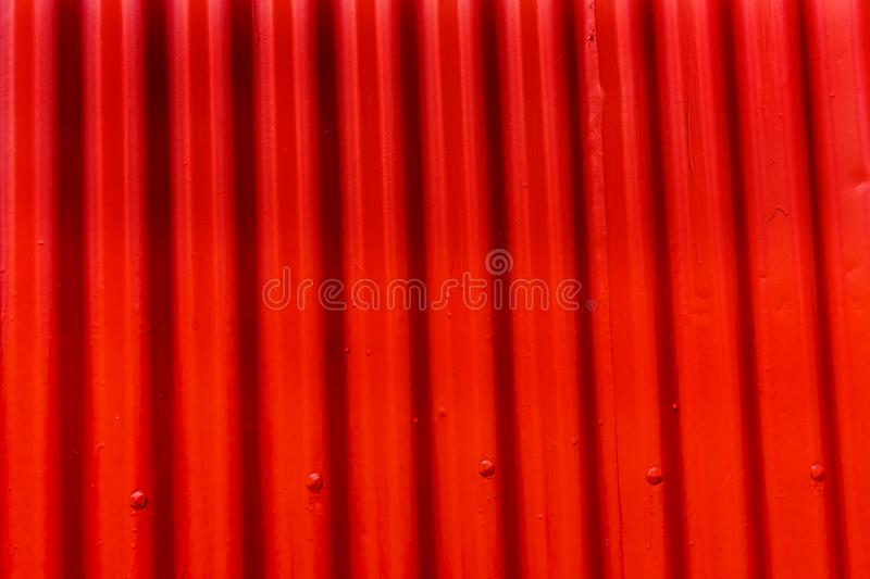 Red Orange Corrugated Lead Metal Abstract Background Reykjavik Iceland royalty free stock photos