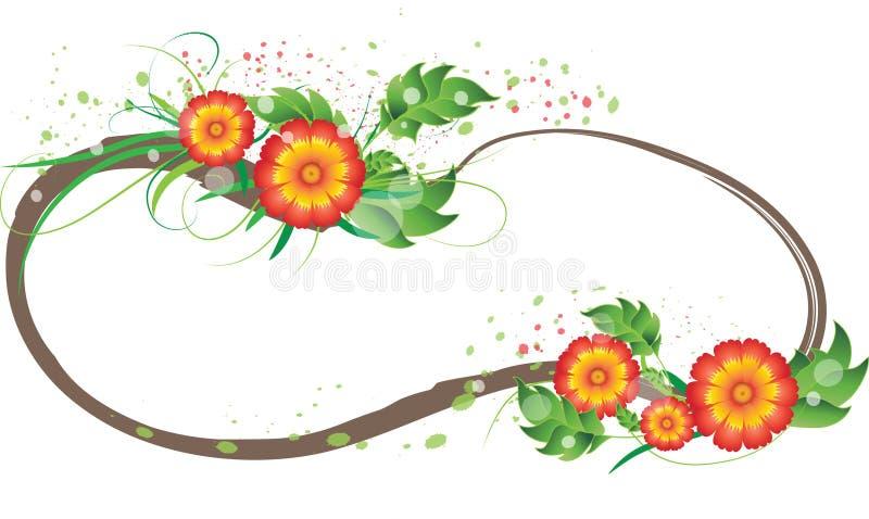 Download Red-orange flowers frame stock vector. Illustration of ornate - 19768511
