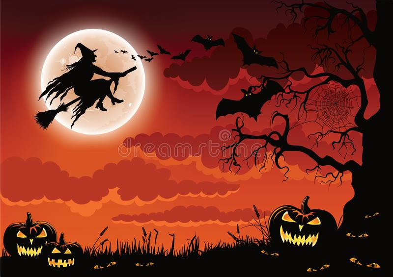 Halloween Witch Illustration royalty free stock image