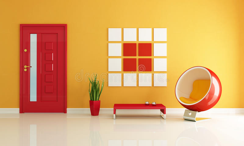 Download Red And Orange Home Entry Foyer Royalty Free Stock Photo - Image: 11677315