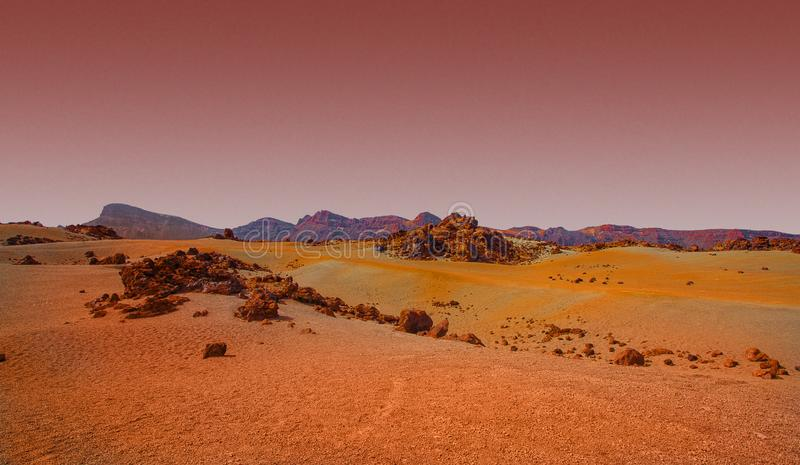 A Red and Orange landscape from Mars.  royalty free stock photos
