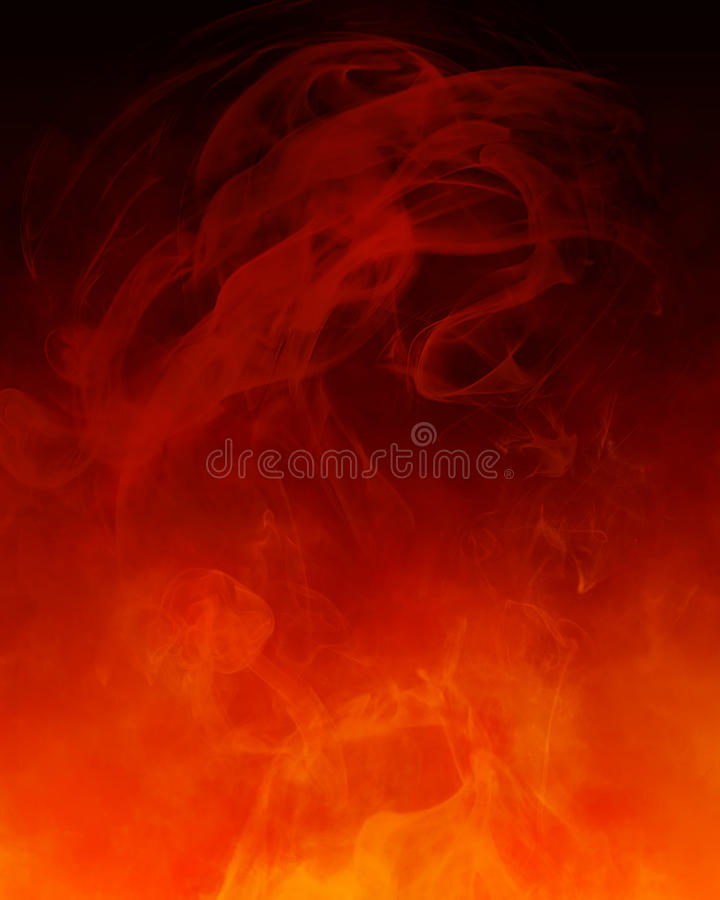 Free Red Orange Smoke Background Stock Images - 18068314