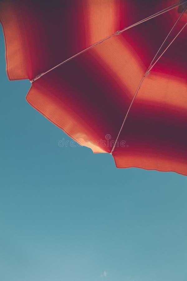 Red and Orange Umbrella royalty free stock image