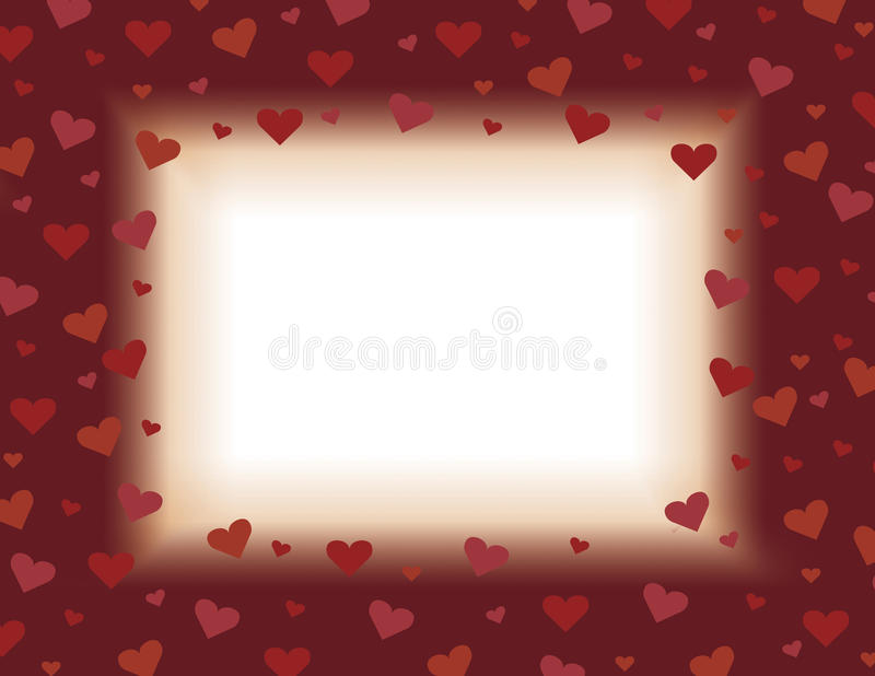 Download Red And Orange Valentines Day Card Background Illustration Design With Hearts Stock