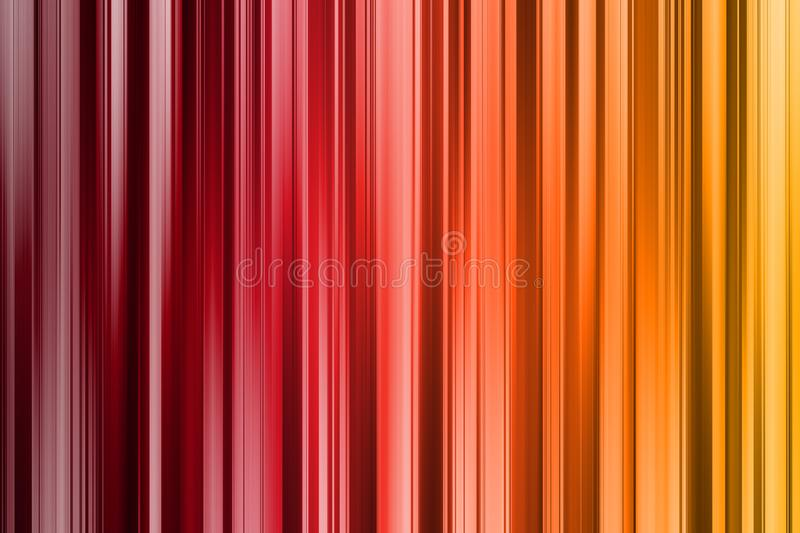 Red, orange and yellow vertical lines, dark and light abstract background vector illustration
