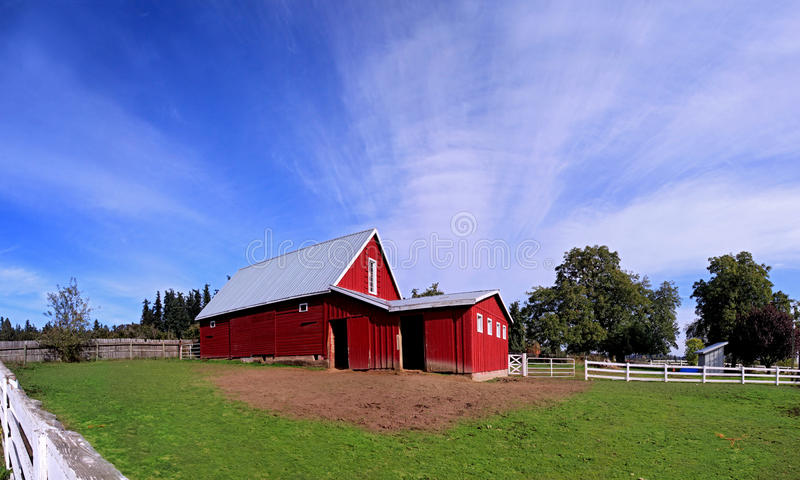 Download Red Oregon Barn stock image. Image of side, brown, green - 16598665