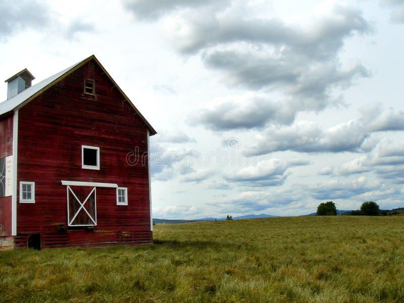 Red Oregon Barn royalty free stock image